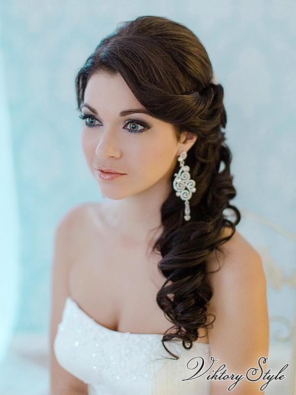 Невесты прическа на бок