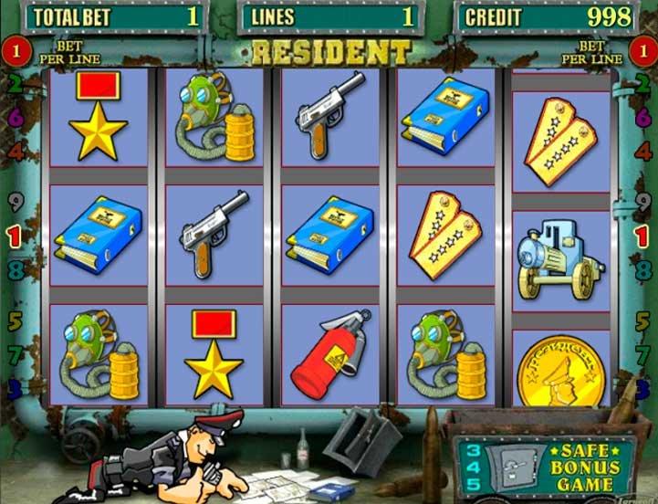 Играть в игровые аппараты резидент бесплатно онлайн игра игровые автоматы гладиатор
