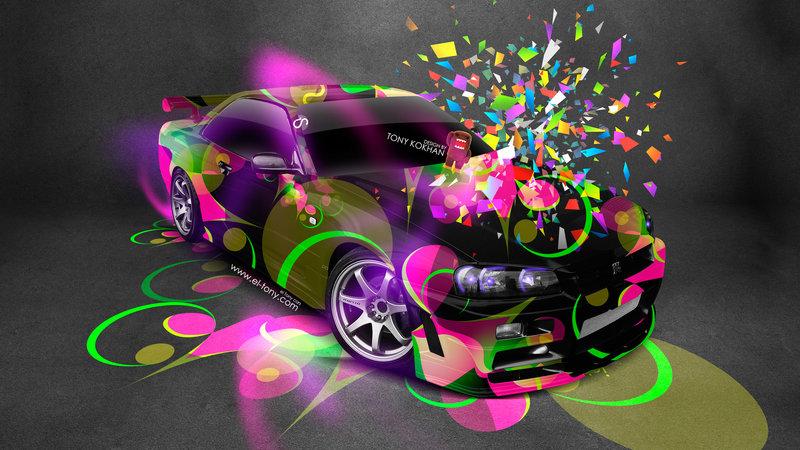 Nissan Skyline GTR R34 JDM Style Domo Kun