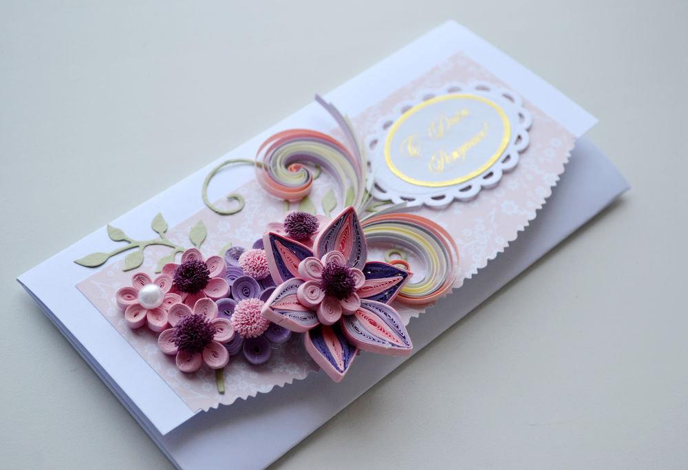 Квиллинг и открытки, открытка директору школы