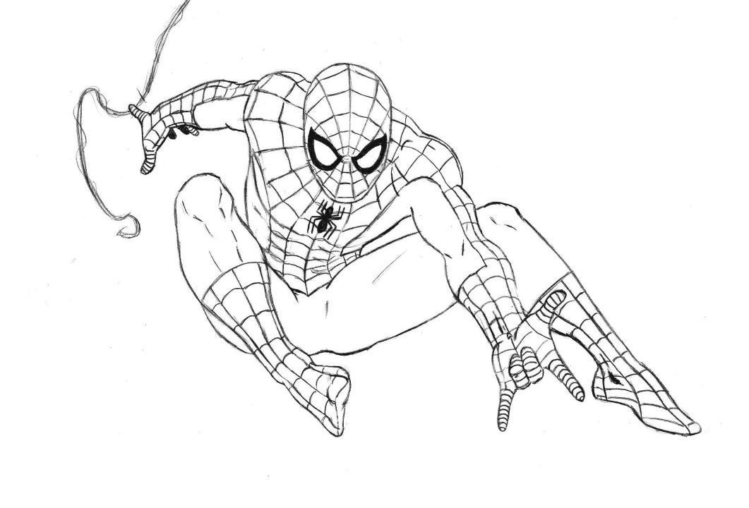 Картинки срисовать человек паук