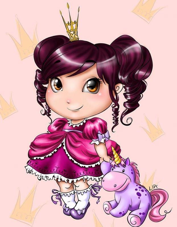 Открытки для, красивые открытки для маленьких принцесс