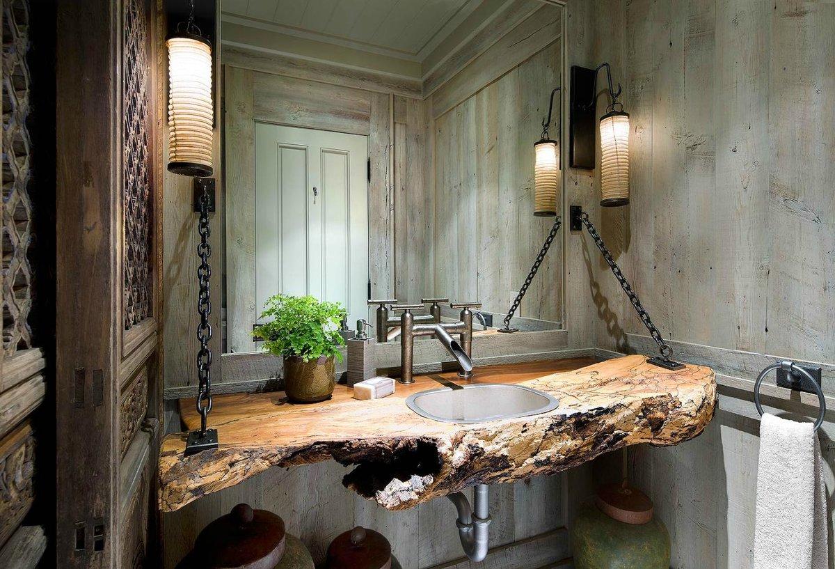 ванная комната из дерева