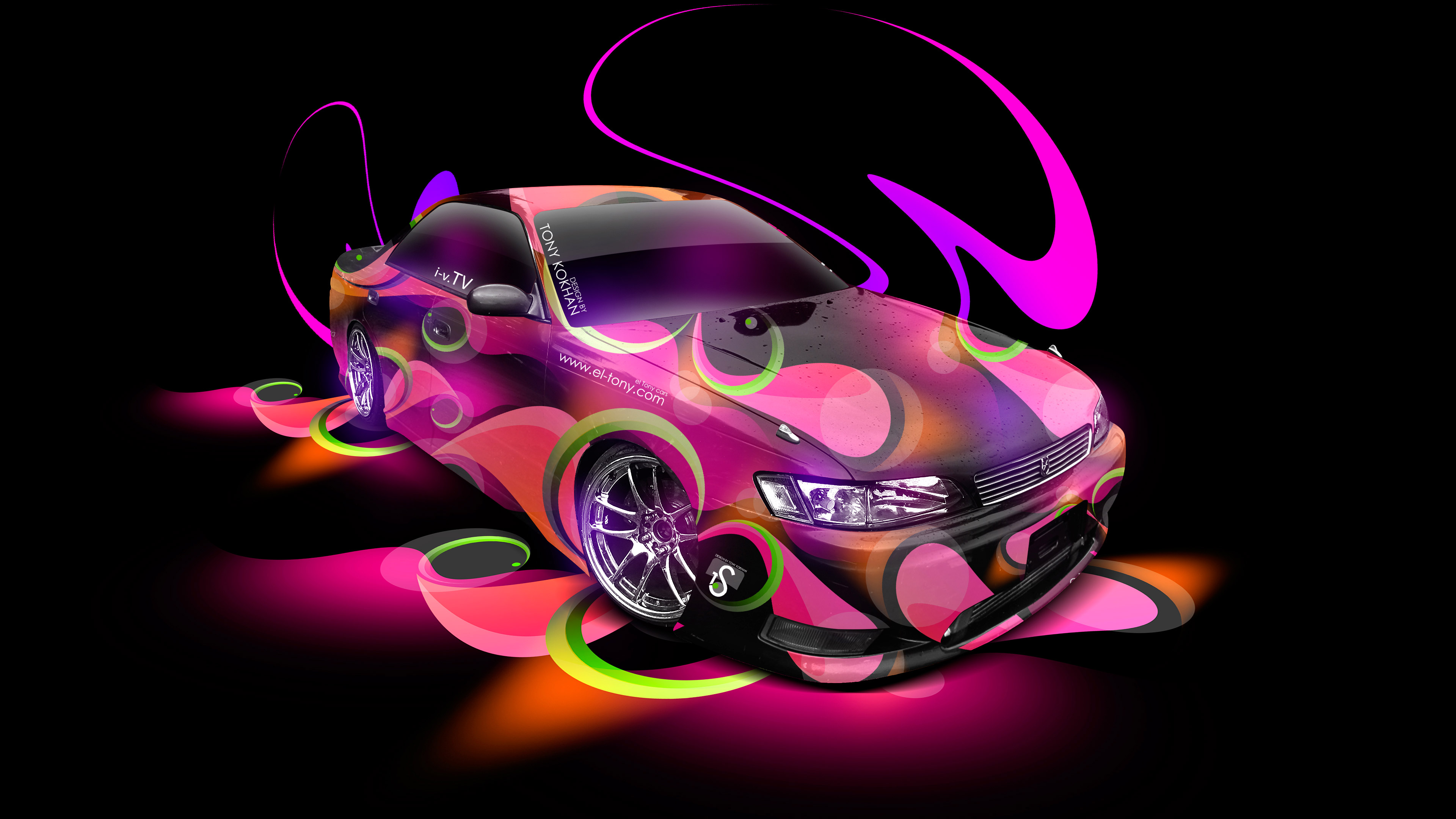 Great Toyota Mark2 JZX90 JDM Tuning 3D Super Abstract Aerography Car 2015 ...