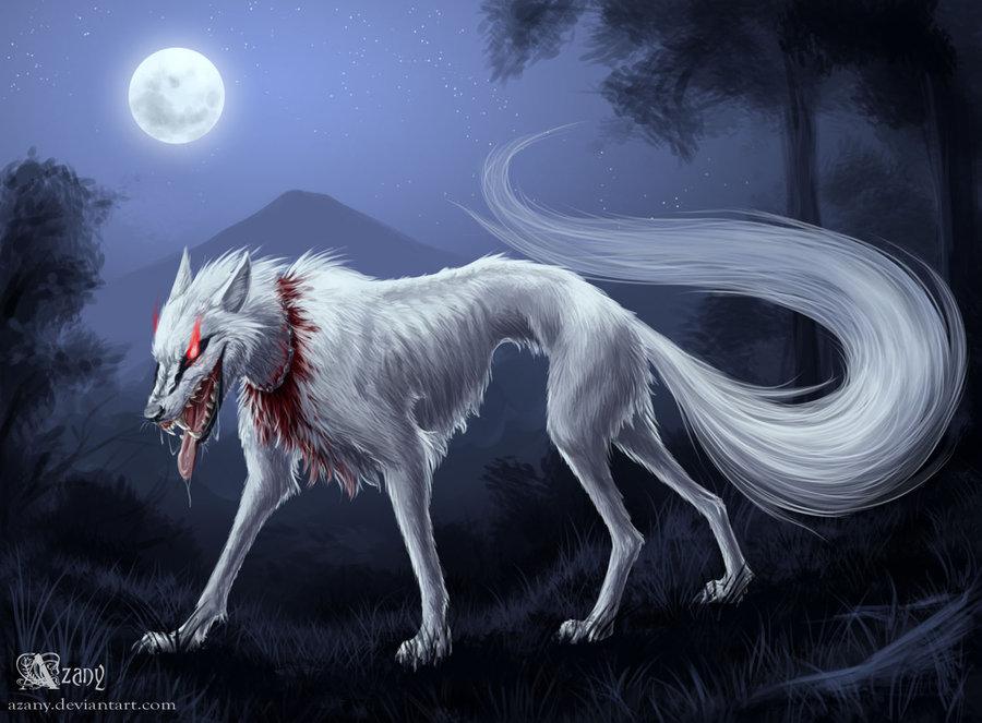 Картинки злого волка аниме