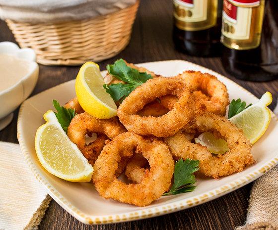 хрустящие кольца кальмара в кляре рецепт с фото пошагово