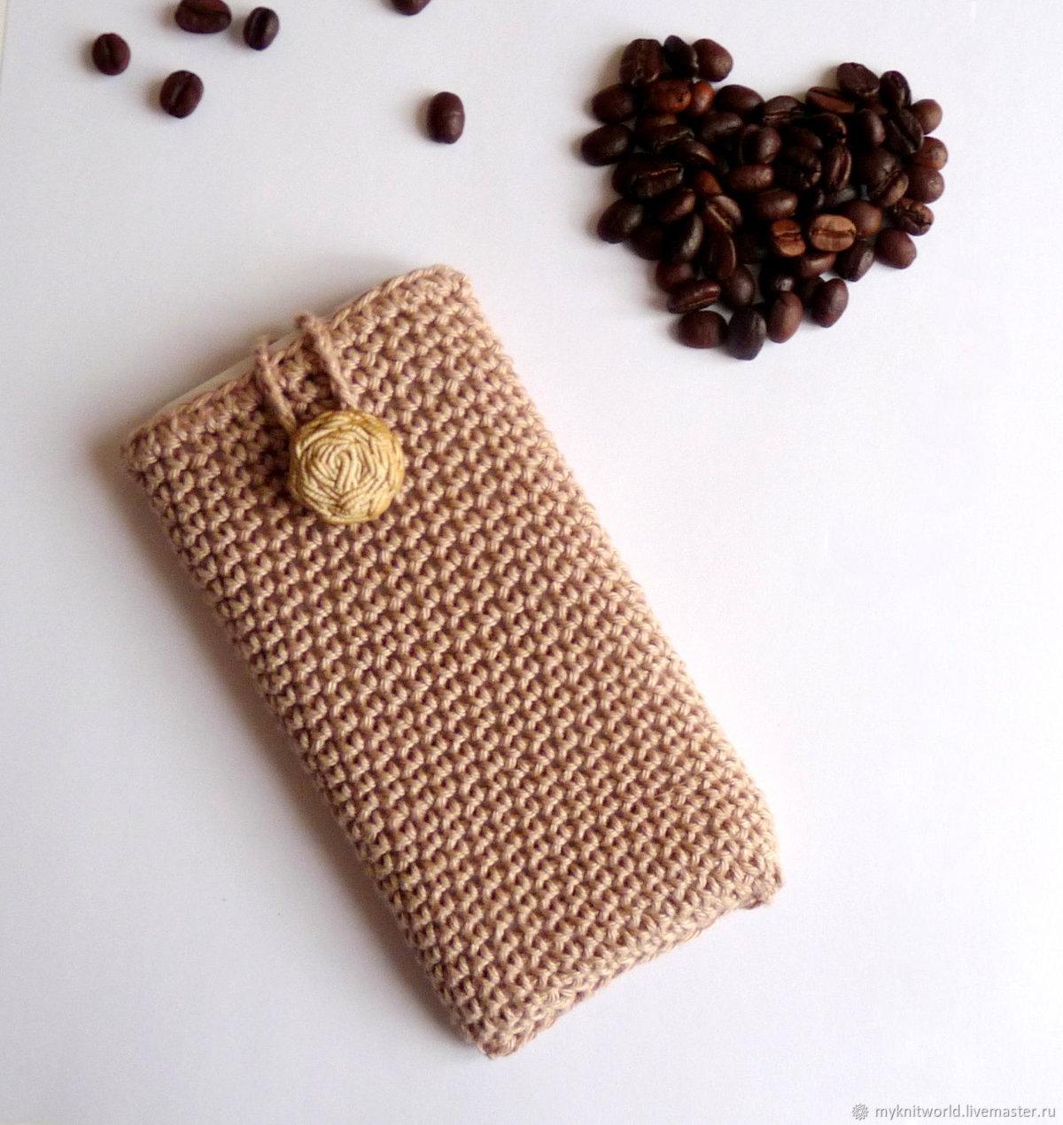 картинки вязаного чехла для телефона материал легко