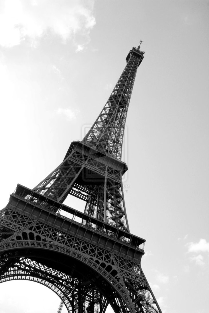 Эйфелева башня картинки черно-белые