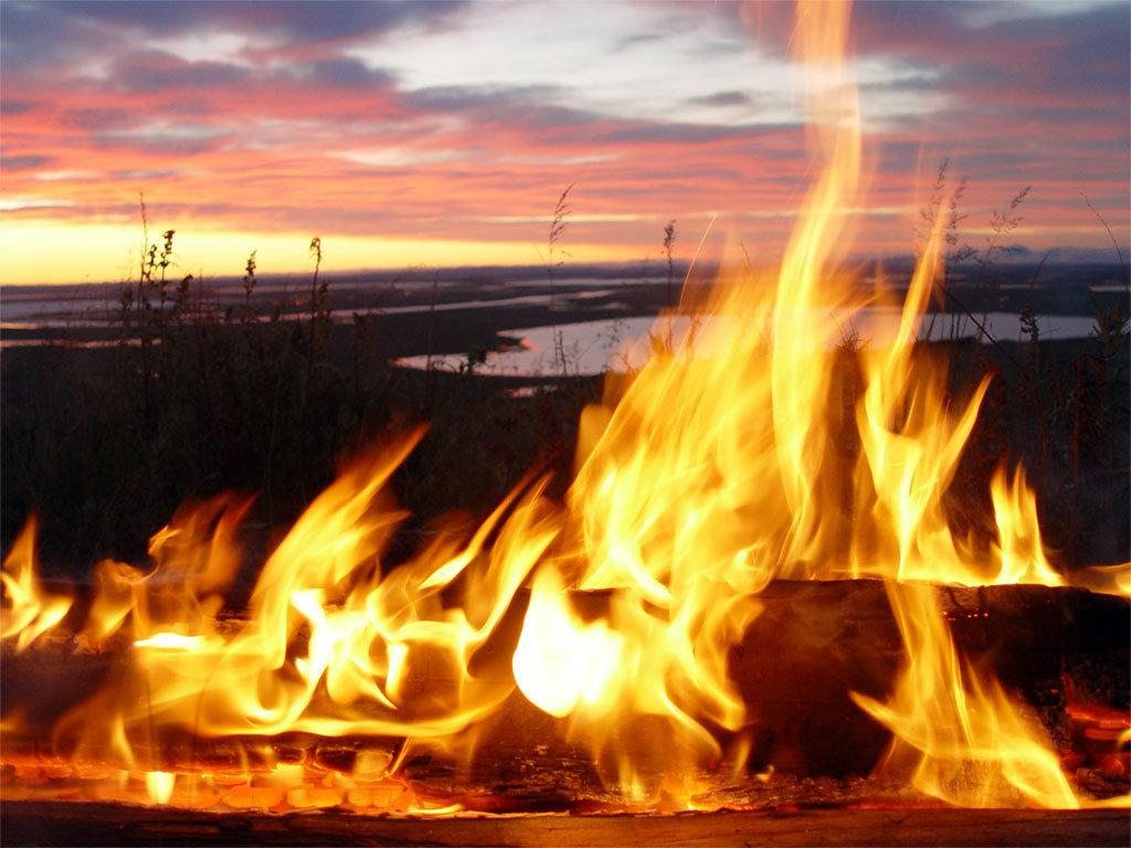 Живая открытка огонь