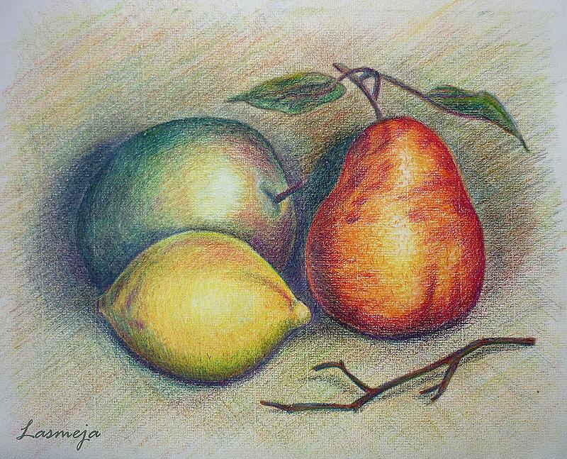 был картинки для рисования натюрморта из фруктов раз уже