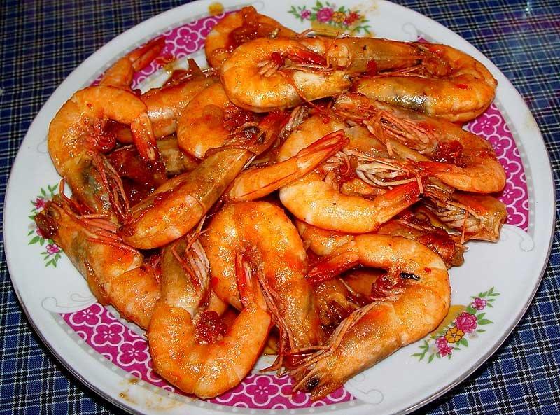 Жареные креветки в панцире с чесноком рецепт пошагово