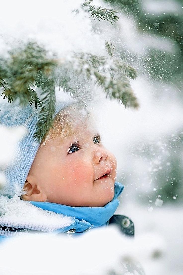 Картинки дети зима, днем рождения лет