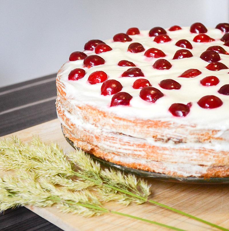 творожно сметанный торт из готовых коржей рецепт с фото