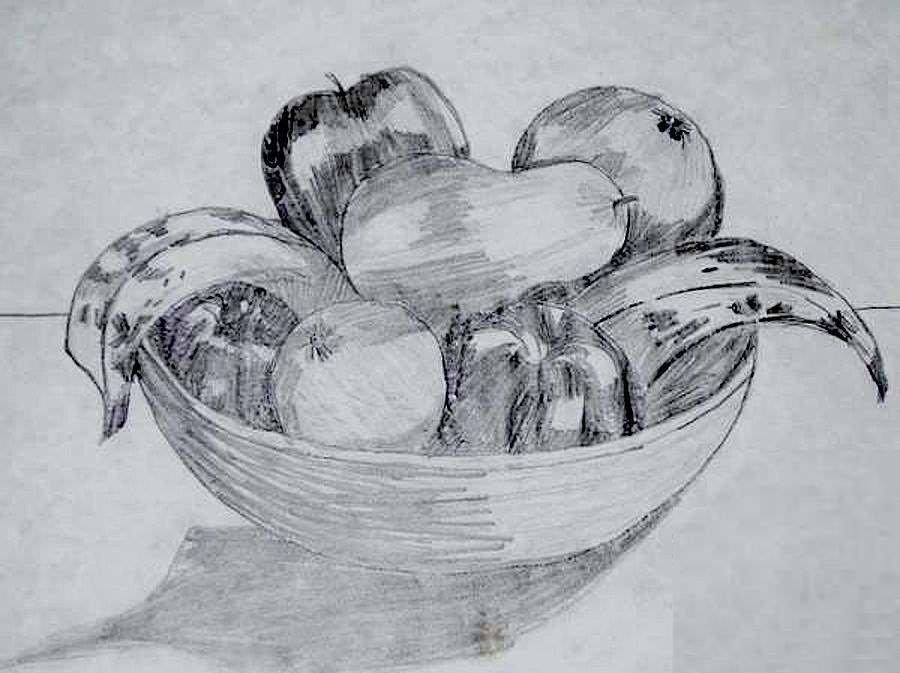 Рисунок фрукты на столе, веселые картинки