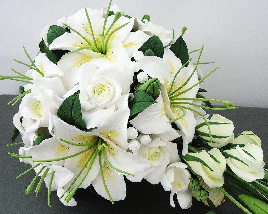 Свадебные букеты из лилии в картинках