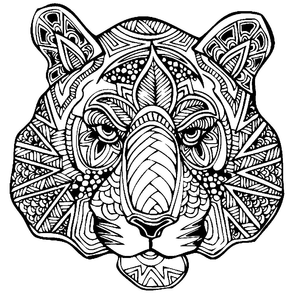 Картинки животных в виде узоров