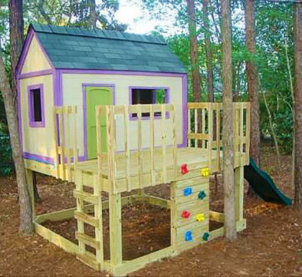 Картинки домика для детей на даче своими руками