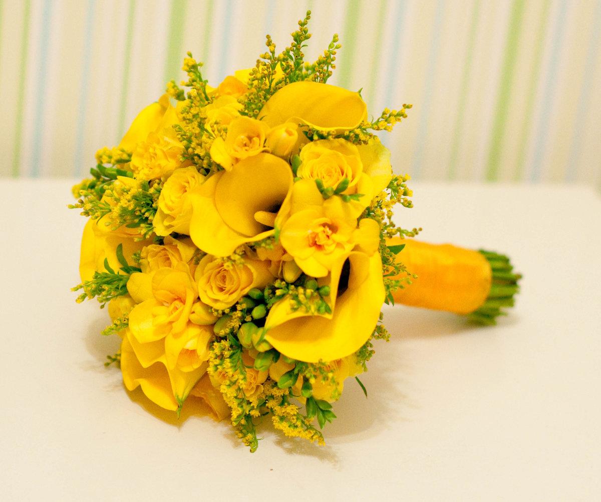 Цветов, букет невесты композиция из желтых роз