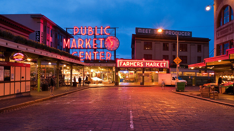 pike place market of seattle