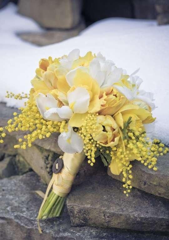 Цветы для, букет невесты из мимоза