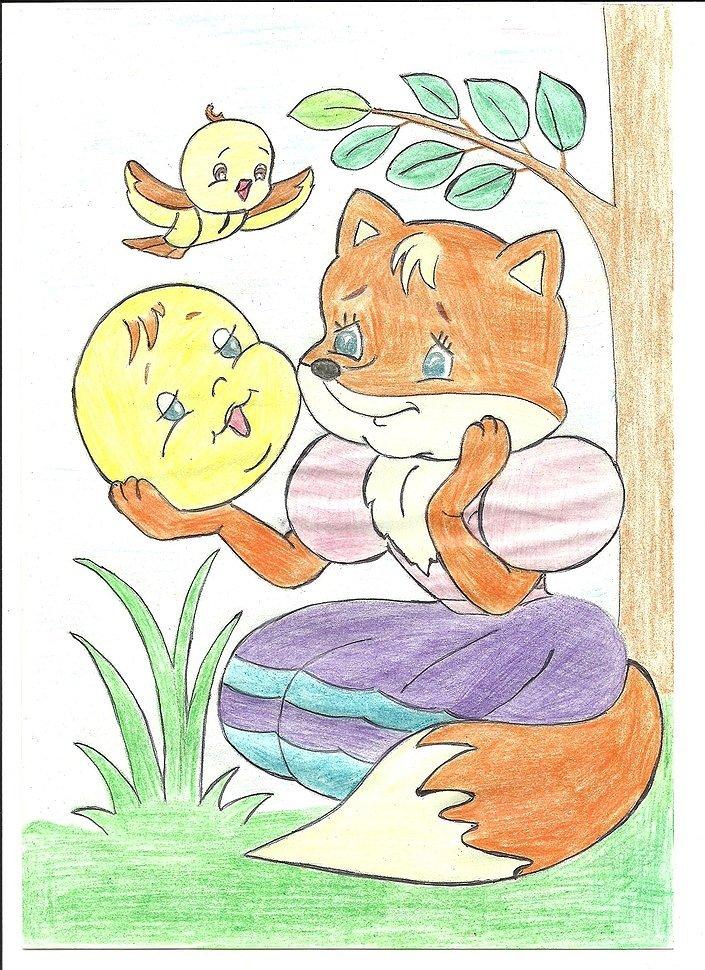 рисунки животных из русских народных сказок цвета, четкие