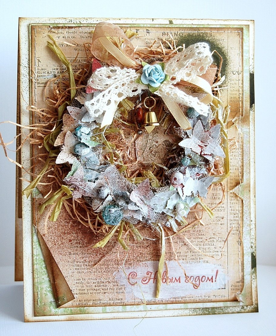 Поздравление, винтажные рождественские открытки своими руками