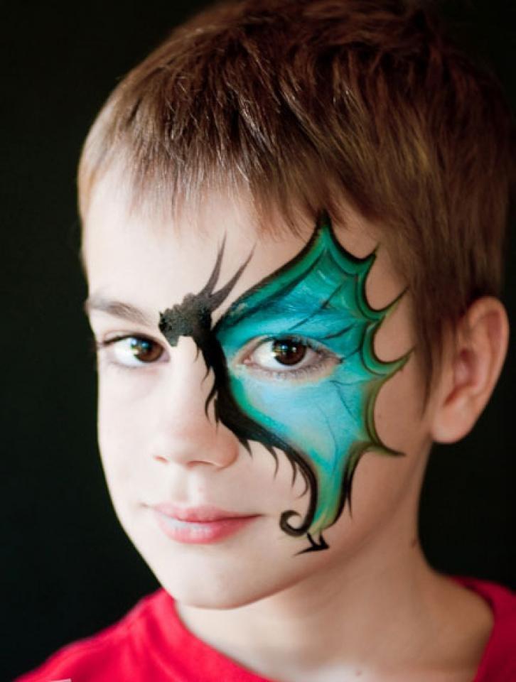 Крутые рисунки на лице для мальчиков фото, видео открытки