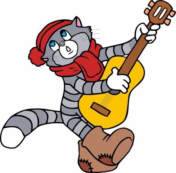 Открытки, анимация картинка кот матроскин