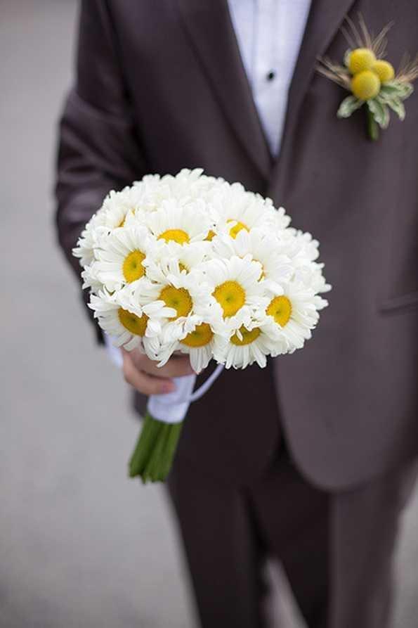 Букет, любовный букет из ромашек свадебный