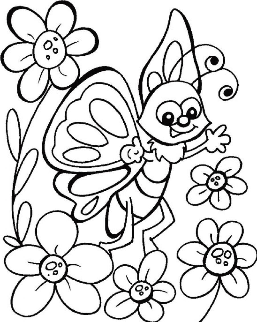 Раскраски цветы распечатать формат а4 для девочек