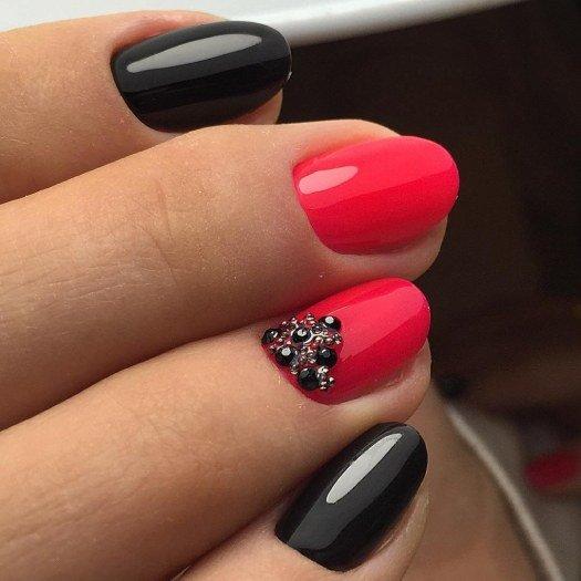 фото черно-красные ногти