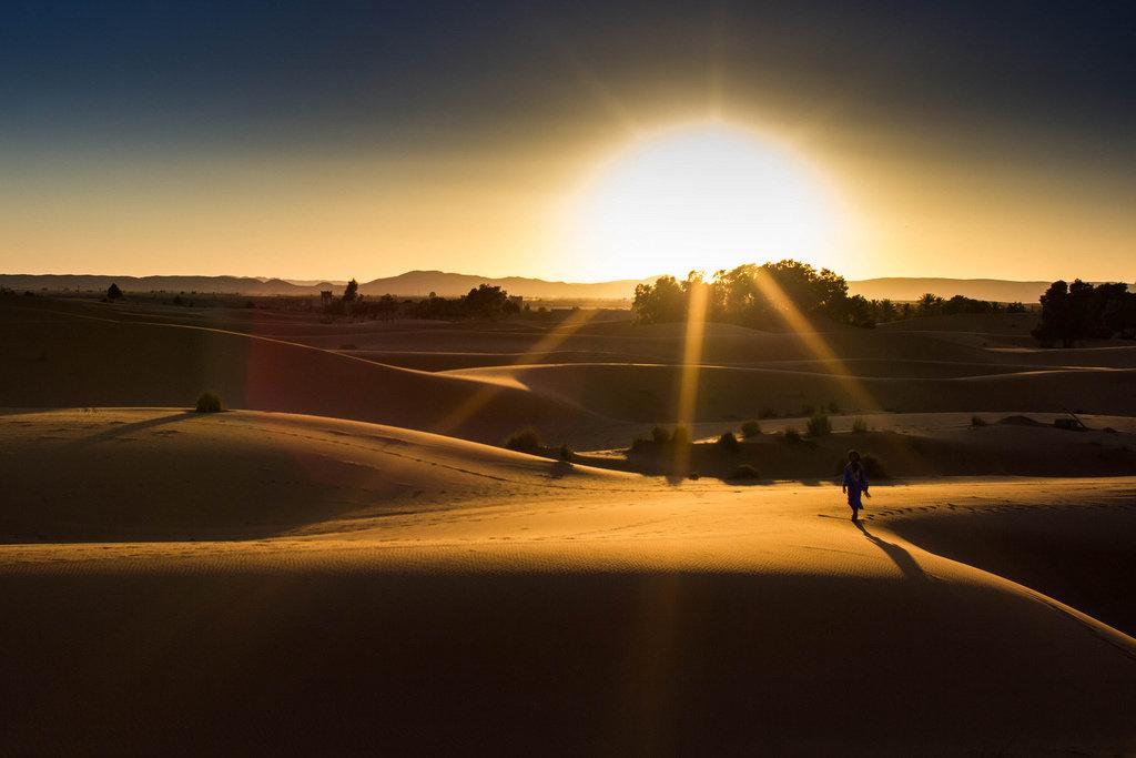 меня еще фотографии восхода солнца в пустыне являлась