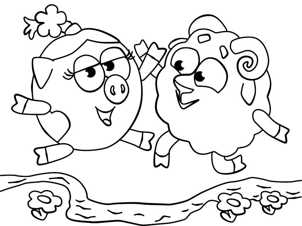 «Раскраски для детей 3-4 лет распечатать смешарики ...