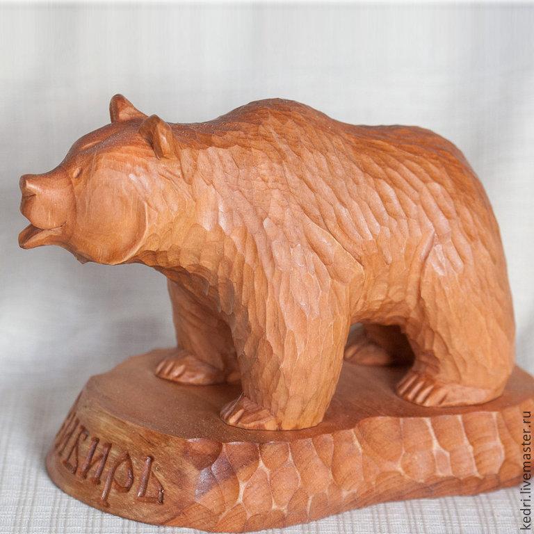 Резные медведи из дерева картинки