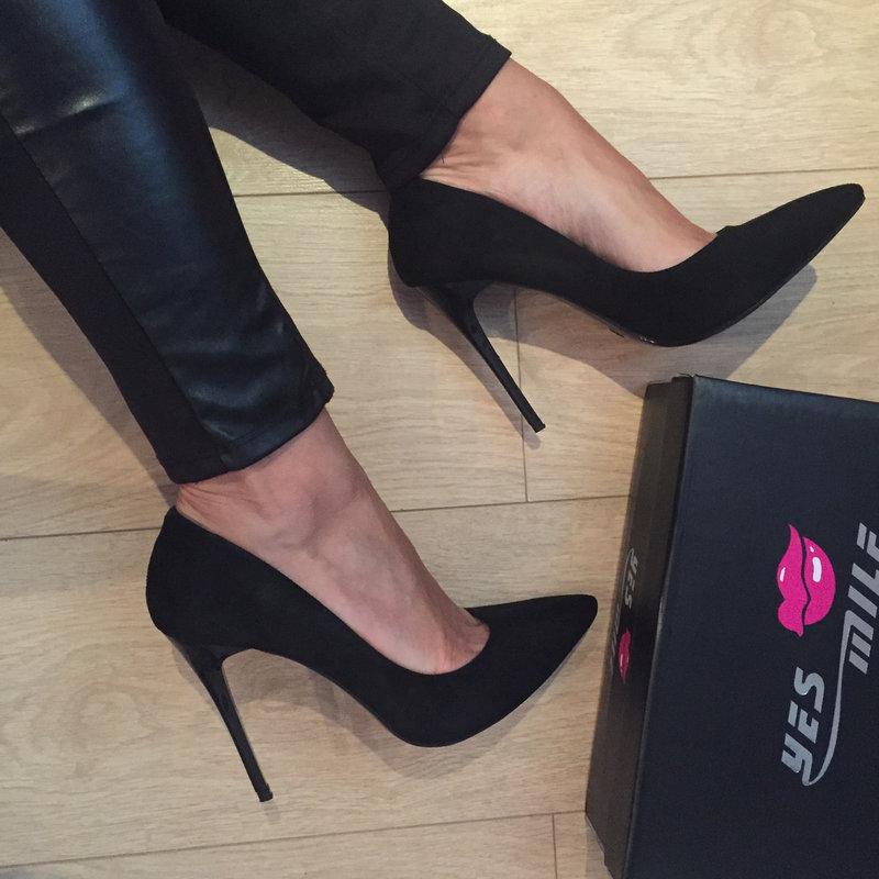 черные туфли-лодочки фото
