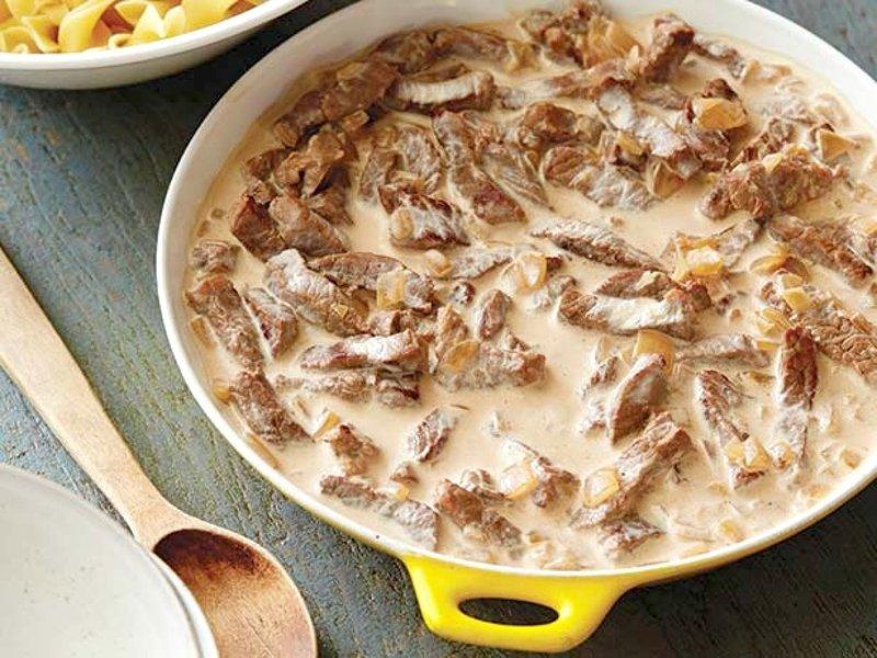 Рецепт бефстроганов из говядины со сливками