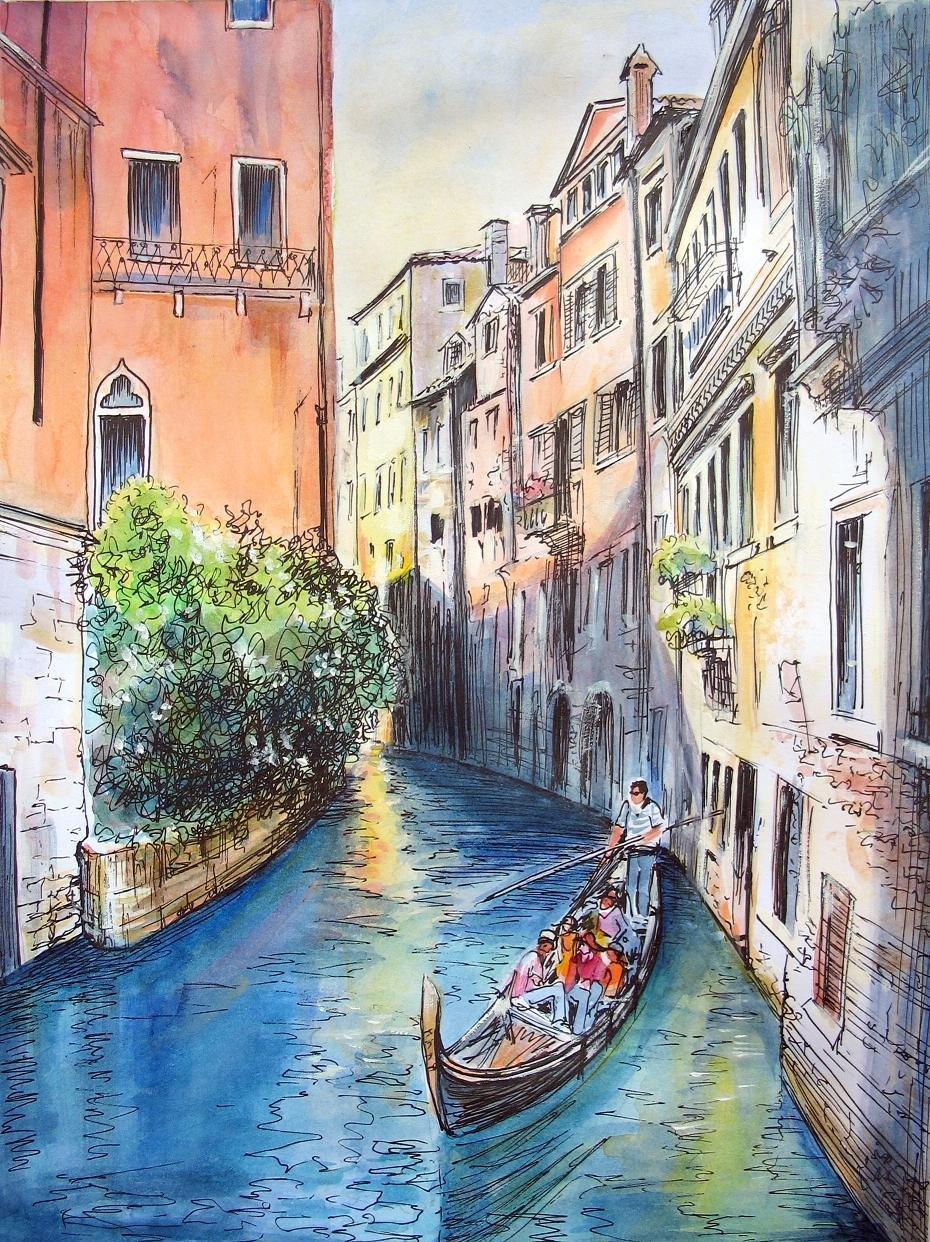 интернету, итальянский город рисунок продумать