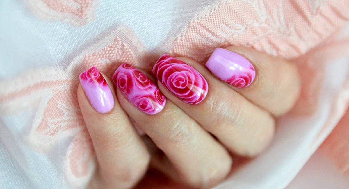 Hd весенний дизайн ногтей по мокрому гель-лаку.