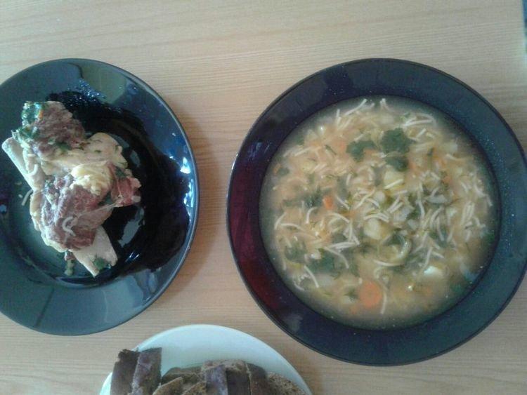 рецепт мясом с суп с фото лапшой с