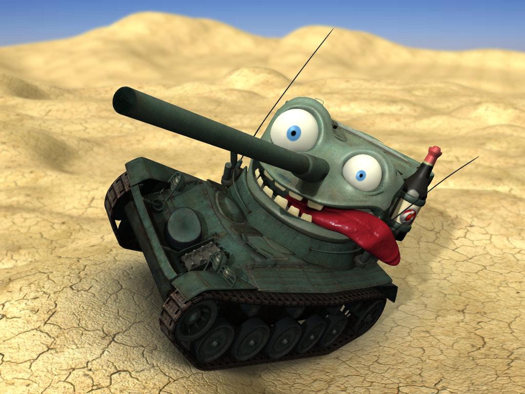 Картинка танк прикол, днем