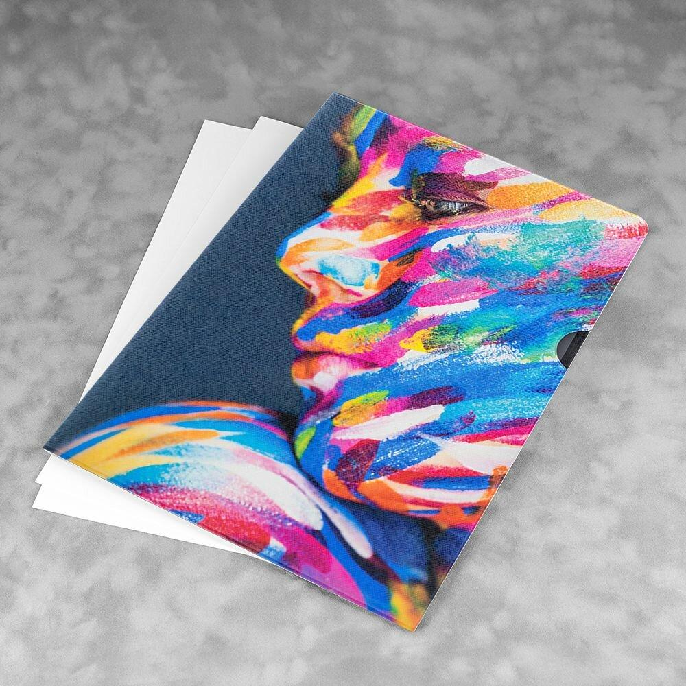 Кожаная папка для бумаг
