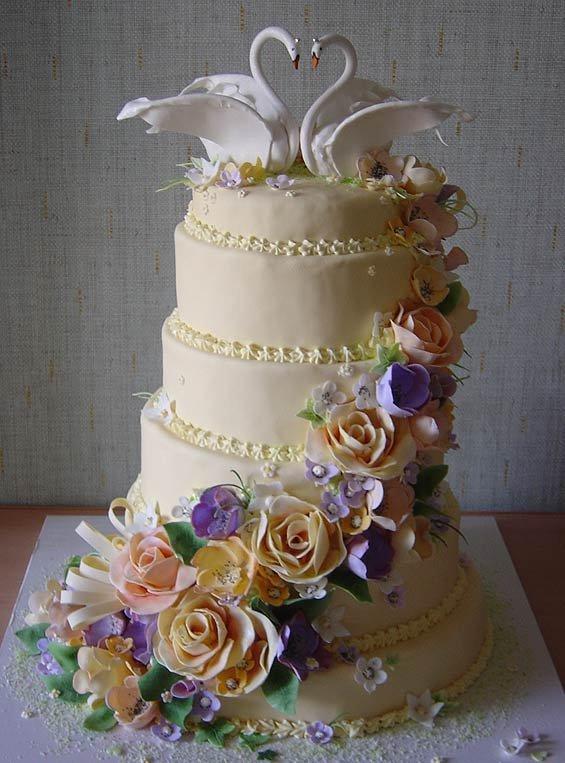 Свадебный торт 2007 фото