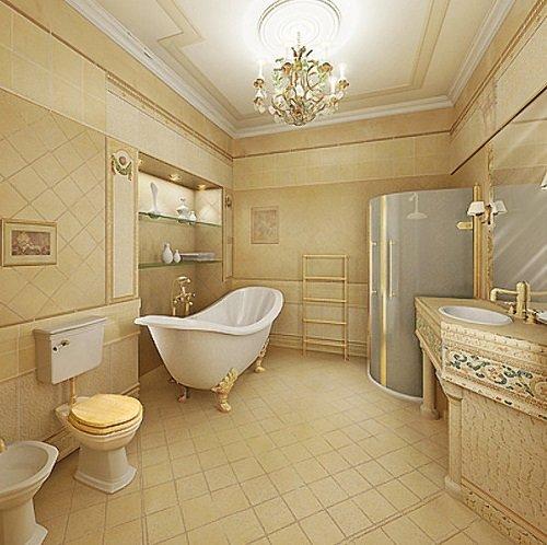 Как обустроить ванную комнату? Стиль ампир