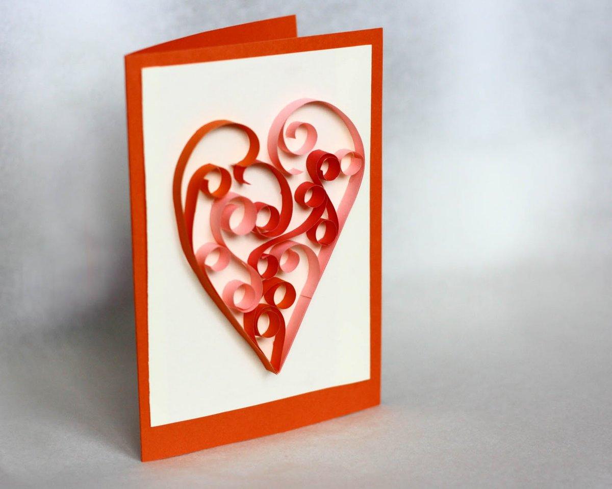 как сделать открытку с днем святого валентина из бумаги этого
