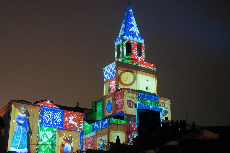 у Спасской башни Казанского кремля