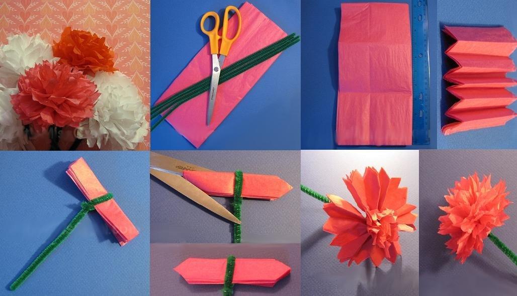 Гвоздики из салфетки для открытки, прощенным воскресеньем открытки