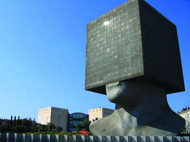 Библиотека Луи Нюсера (Ницца, Франция, архитекторы Ив Байяр и Франсис Шапю)