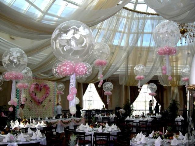 Большие бумажные цветы в оформлении залов - интерьер, декор