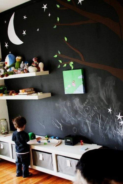 Незабываемые мгновения детства - рисование на грифельной доске