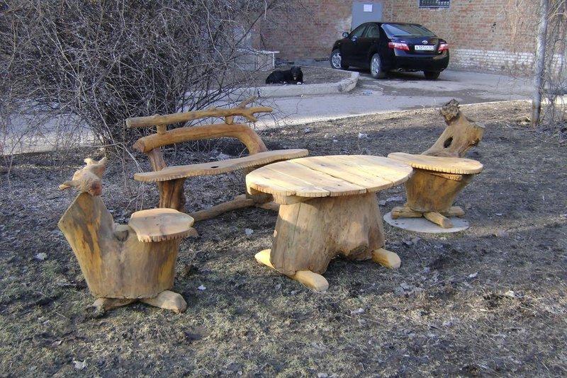 Садовая мебель своими руками. Как ни крути, но без разнообразных лавочек и столиков не может обойтись ни один обустроенный садовый участок. Какую именно выбрать